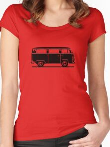 Drive by Bus 2 (black, only) Women's Fitted Scoop T-Shirt