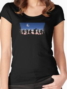 Night Time Party Women's Fitted Scoop T-Shirt