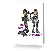 Inspired by Big Boss and Solid Snake of Metal Gear Solid Greeting Card