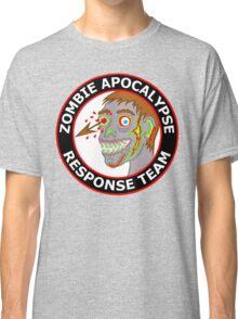 Zombie Apocalypse Response Team Funny Cartoon Classic T-Shirt