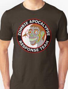 Zombie Apocalypse Response Team Funny Cartoon T-Shirt
