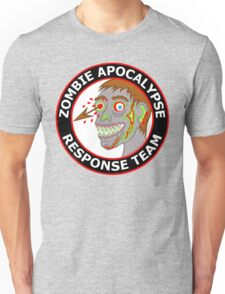 Zombie Apocalypse Response Team Funny Cartoon Unisex T-Shirt