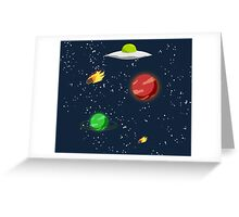 Meteors and Stars (and Spaceships) Greeting Card