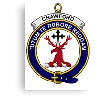Crawford Clan Badge Canvas Print