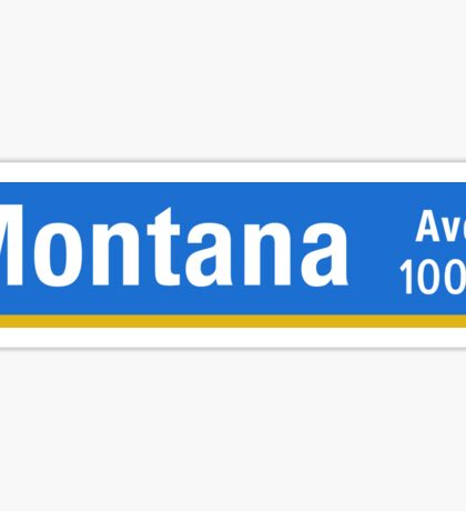 Montana Ave, Street Sign, Los Angeles, USA  Sticker
