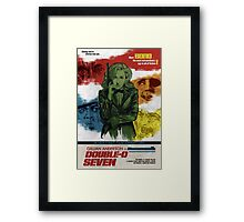 Gillian Anderson is Double-O Seven Framed Print