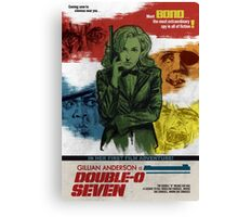 Gillian Anderson is Double-O Seven Canvas Print