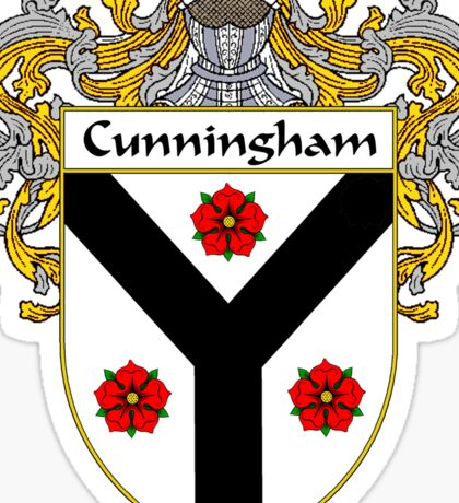 Cunningham Coat of Arms/Family Crest Sticker