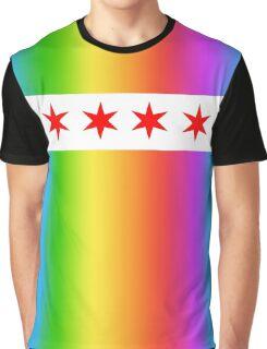 Chicago Pride Flag 2016 Graphic T-Shirt