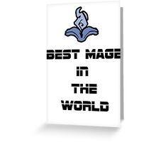 Best Mage Greeting Card