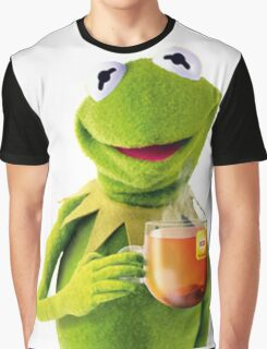 Kermit Sips Tea Graphic T-Shirt
