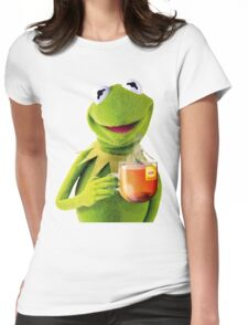 Kermit Sips Tea Womens Fitted T-Shirt