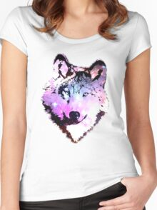 Space Wolf [iphone / ipad case / mug / laptop sleeve / shirt] Women's Fitted Scoop T-Shirt