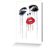 Vogue - glossy lips and heavy lashes Greeting Card