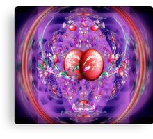 Eggs, Jelly Beans, Flower Petals in a Basket (Easter Fractal) Canvas Print