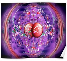 Eggs, Jelly Beans, Flower Petals in a Basket (Easter Fractal) Poster