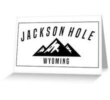 JACKSON HOLE WYOMING Mountain Skiing Ski Snowboard Snowboarding Greeting Card
