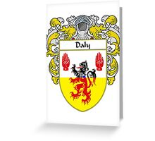 Daly Coat of Arms/Family Crest Greeting Card
