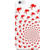Crazy red mob of kangaroos - optical illusion iPhone Case/Skin