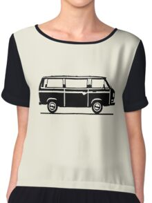 Drive by Bus 3 (black, only) Chiffon Top