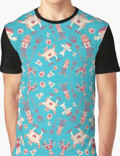 Fun monsters on blue Graphic T-Shirt