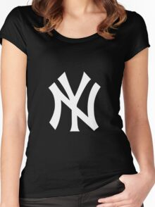 go go go yankees Women's Fitted Scoop T-Shirt