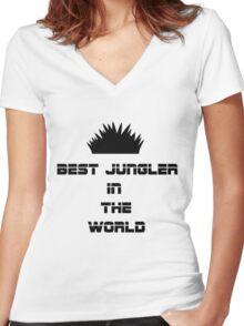 Best Jungler Women's Fitted V-Neck T-Shirt