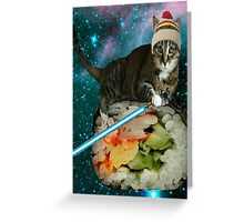 sushi jedi cat Greeting Card