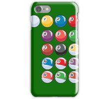 Pool Table Snooker Billiard Balls iPhone Case/Skin