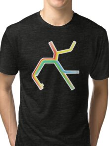 Rainbow BART Map Tri-blend T-Shirt