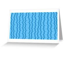 Blue Ripples Greeting Card