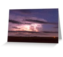 Epic Cloud To Cloud Lightning Storm Greeting Card
