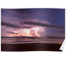 Epic Cloud To Cloud Lightning Storm Poster