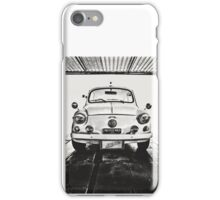 FIAT 600D - 1963 Black and White iPhone Case/Skin