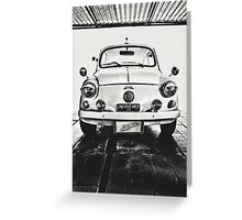 FIAT 600D - 1963 Black and White Greeting Card