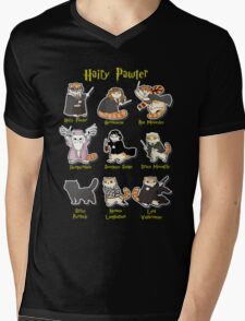 Hairy Pawter Meow 9 Characters Mens V-Neck T-Shirt