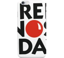 Red Nose Day iPhone Case/Skin