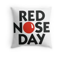 Red Nose Day Throw Pillow
