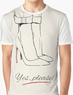 """""""Yes, Please!"""" High Heels Graphic T-Shirt"""
