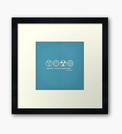 Back to the Future Symbolism Framed Print