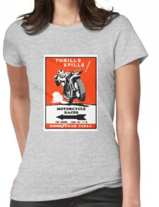 Motorcycle Races Poster Womens Fitted T-Shirt