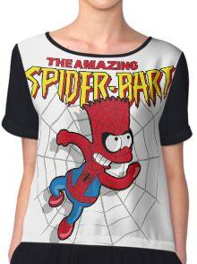 Spiderbart: Bart Simpson as Spider-man Chiffon Top
