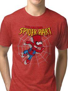 Spiderbart: Bart Simpson as Spider-man Tri-blend T-Shirt