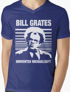 Dr Steve Brule Shirt: BILL GRATES INVENTED MICHAELSOFT Mens V-Neck T-Shirt