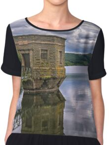 The Brecon Beacons From Talybont Dam Chiffon Top