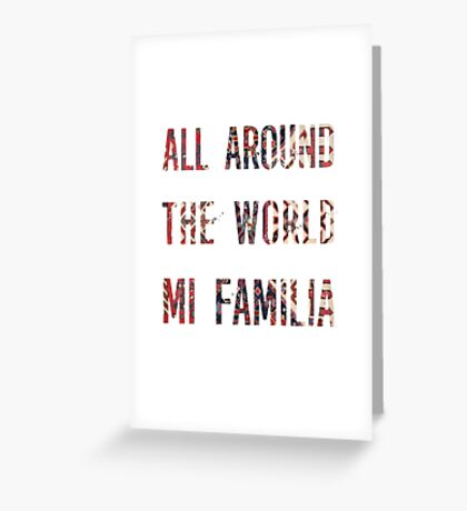 All around the World Mi familia Greeting Card