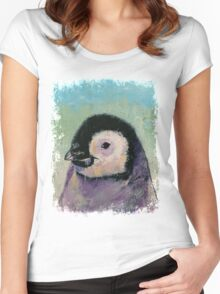 Penguin Chick Women's Fitted Scoop T-Shirt