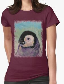 Penguin Chick Womens Fitted T-Shirt