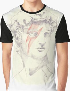 David: Michelangelo and Bowie Graphic T-Shirt