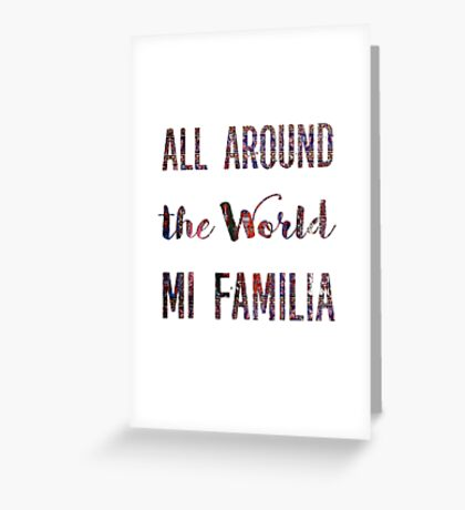 Mi familia Greeting Card